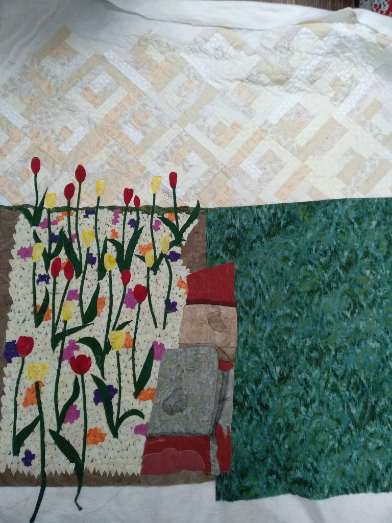 Quilted Background of Art Quilt