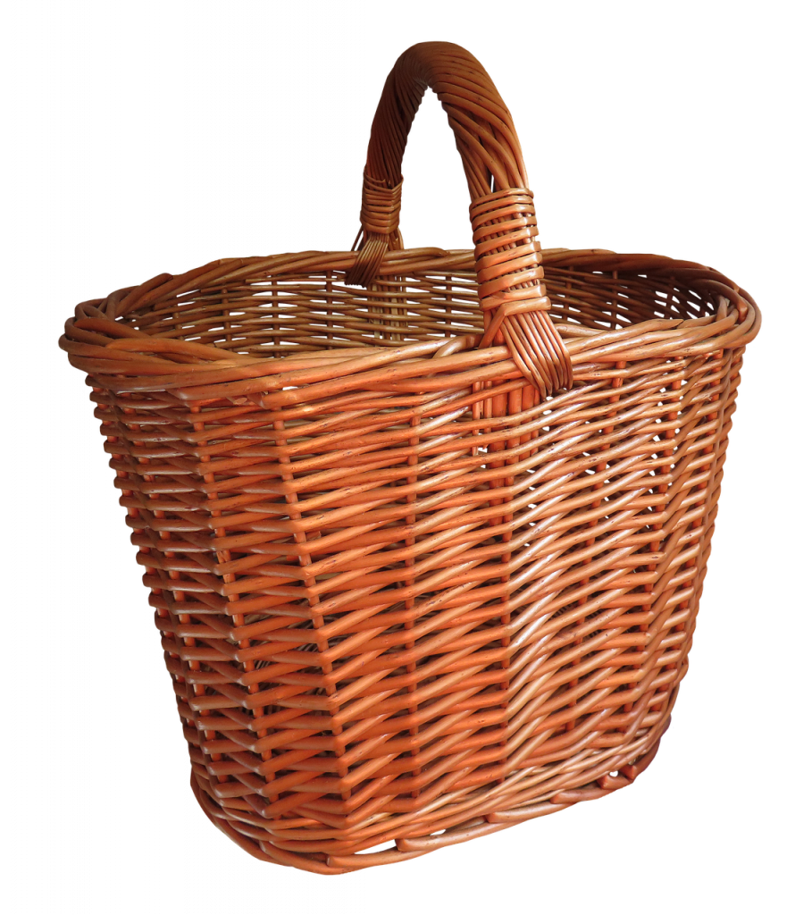 basket, shopping basket, isolated